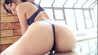 Japanese Porn Tube :Sexy Thong Swimsuit Blue REALISE  Softcore