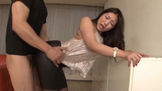Japanese Porn Tube :Dpmi025 Full Clothes Sex in Shiny Silk Satin Top and Black Leather Skirt